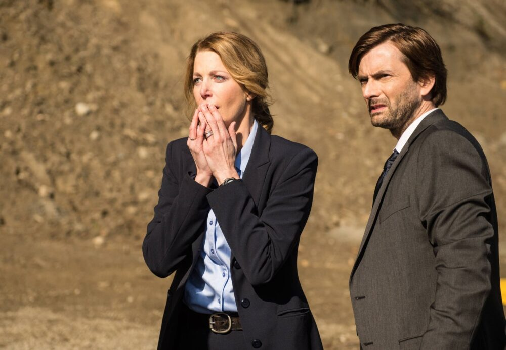 Anna Gunn i David Tennant - Gracepoint