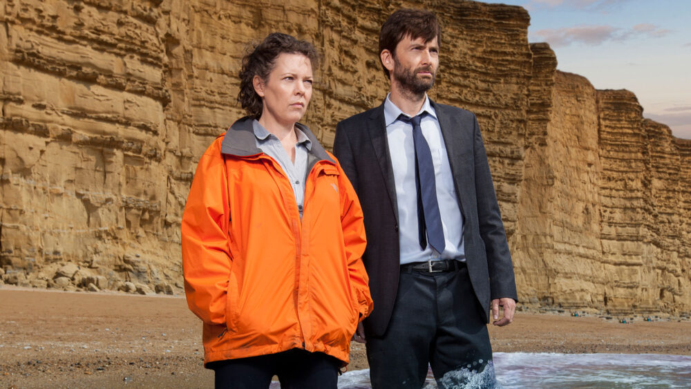 Olivia Colman i David Tennant - Broadchurch
