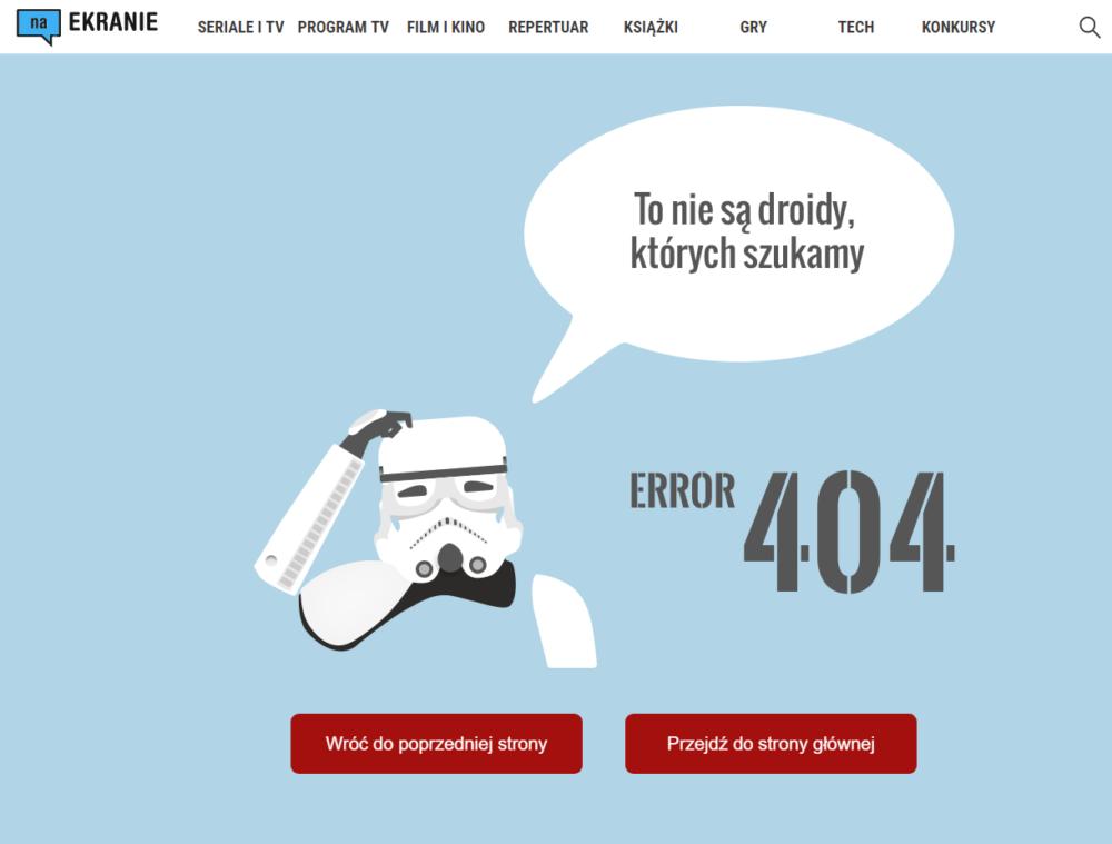 Błąd 404 – Na Ekranie – Star Wars