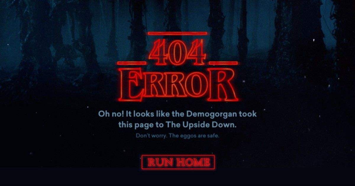 Błąd 404 – Stranger Things