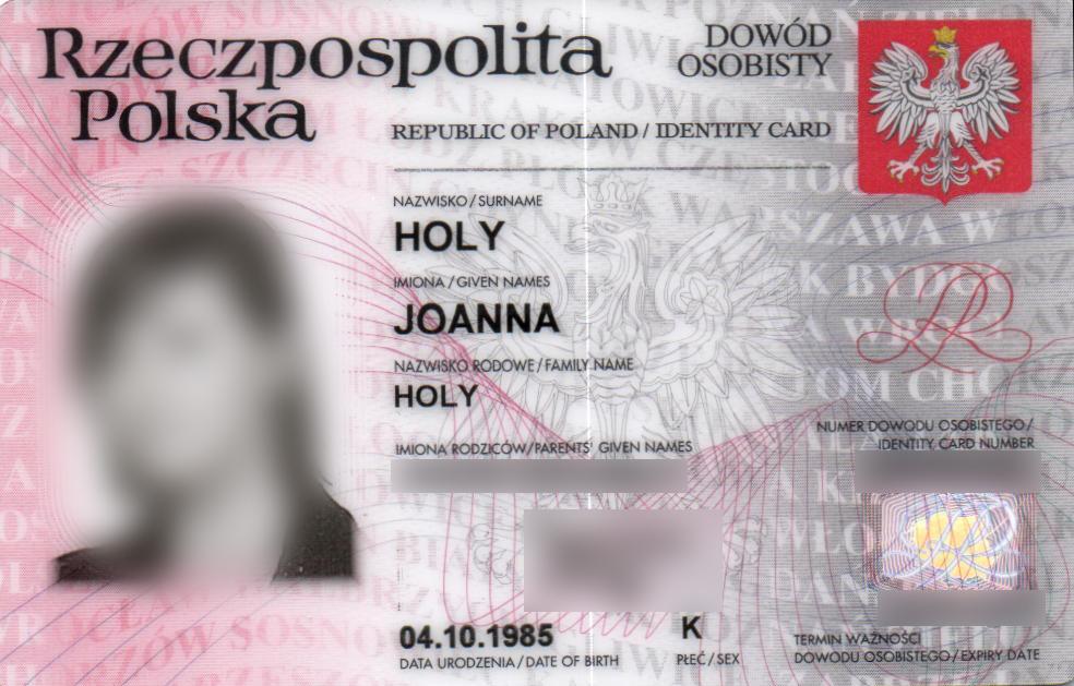 Druga Joanna - skan dowodu