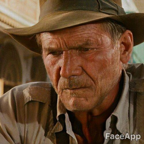 Harrison Ford postarzony przez FaceApp