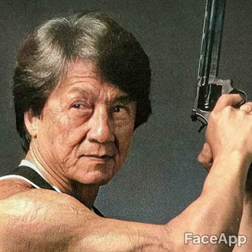 Jackie Chan postarzony przez FaceApp