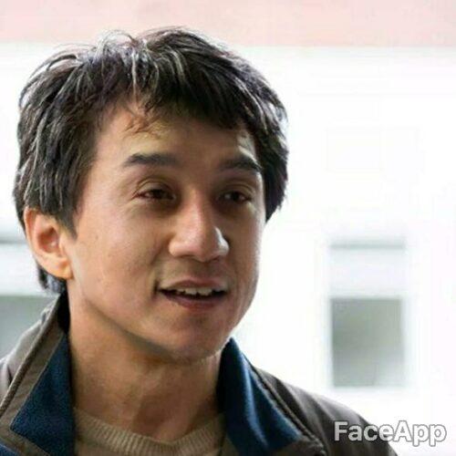 Jackie Chan odmłodzony przez FaceApp