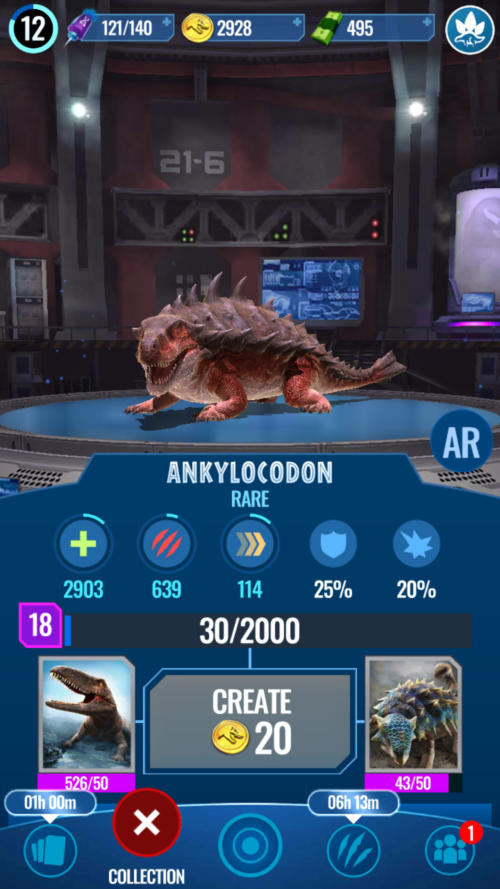 Jurassic World Alive – Ankylocodon