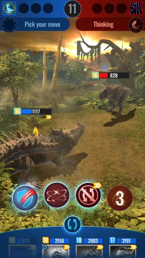 Jurassic World Alive – pojedynek