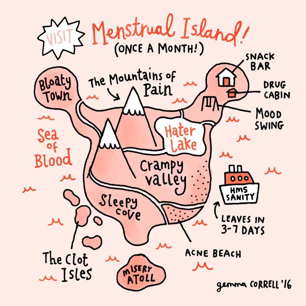 Gemma Correll – Menstrual Island